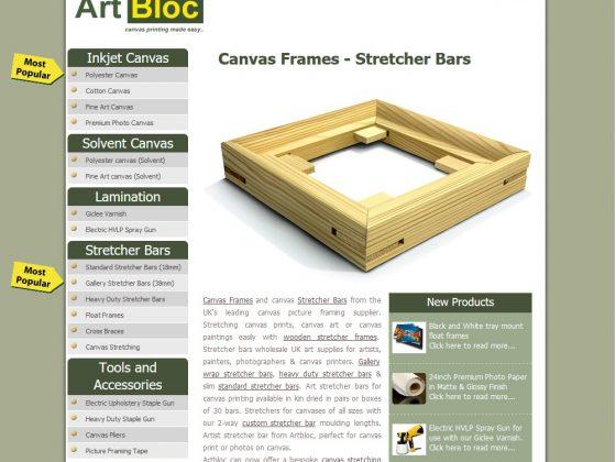 Search Engine Optimization of Artbloc