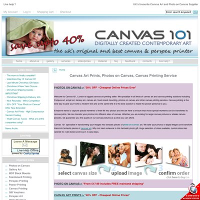 SEO of Canvas101