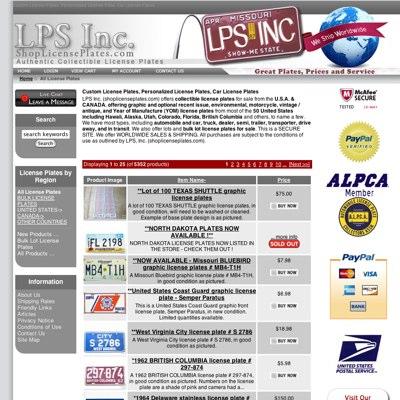 SEO of shoplicenseplates.com
