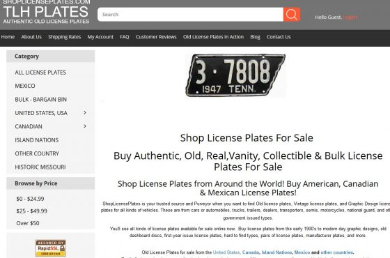 Search Engine Optimization of ShopLicensePlates.com
