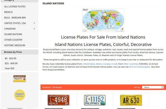 Shoplicenseplates.com SEO