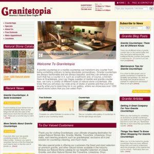 SEO of Granitetopia.com